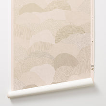 Load image into Gallery viewer, Roll Right - Gold on Blush Wallcovering