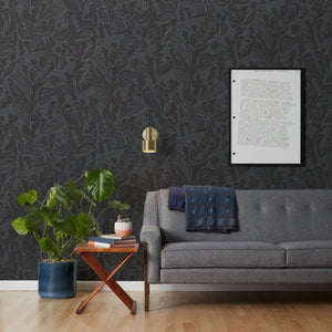 Tangle - Grey Wallcovering