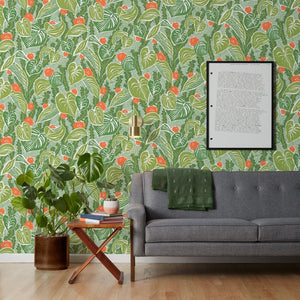 Tangle - Light Green Wallcovering