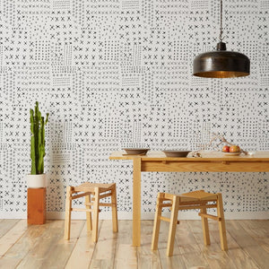 Wrought - White Wallcovering