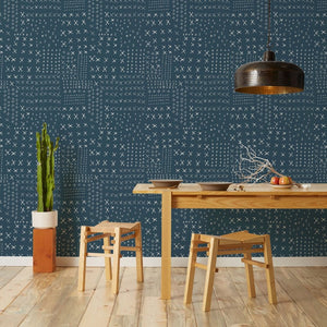 Wrought - Blue Wallcovering