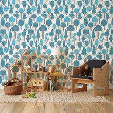 Load image into Gallery viewer, Zig Zag Bright Blue Wallcovering