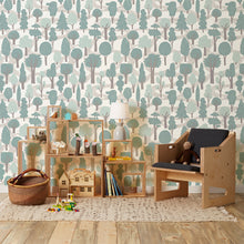 Load image into Gallery viewer, Zig Zag Pale Blue Wallcovering