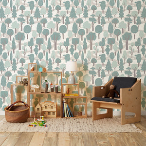 Zig Zag Pale Blue Wallcovering