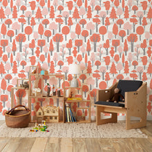 Load image into Gallery viewer, Zig Zag Red Wallcovering