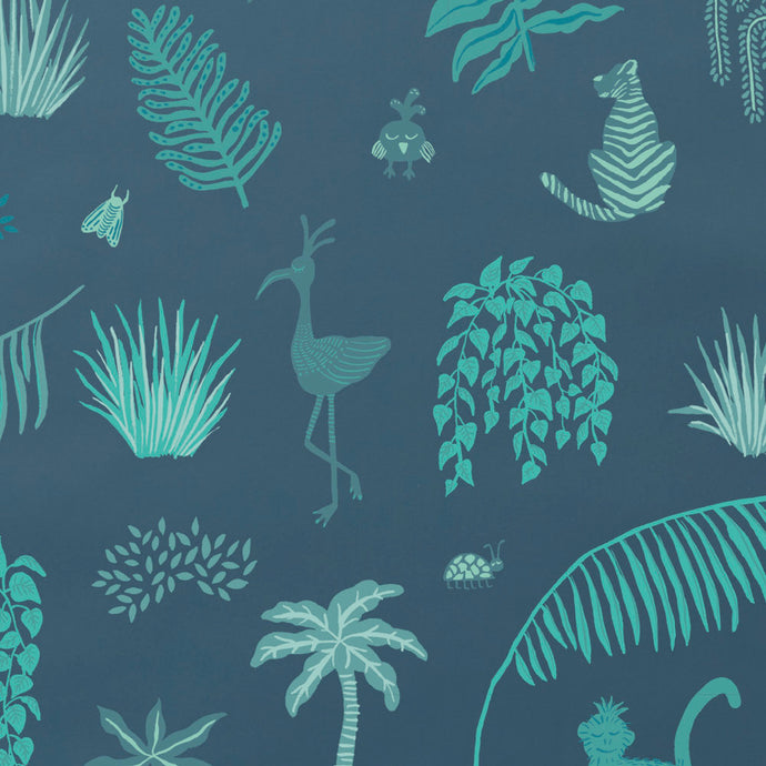 Wild - Blue Wallcovering