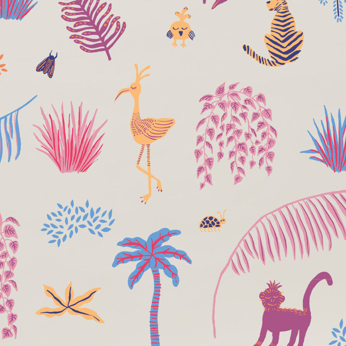 Wild - Purple Wallcovering