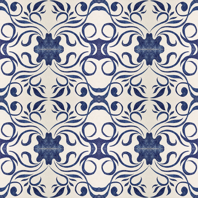 MOLLY 1 Indigo Wallcovering