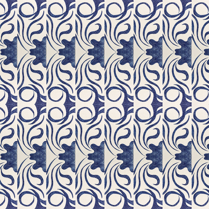 MOLLY 2 Indigo Wallcovering