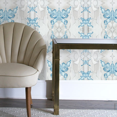 Mariposa in Lapis Wallcovering