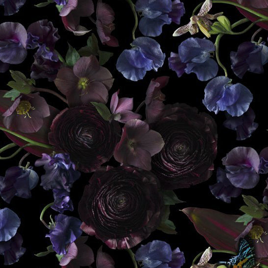 Midnight Floral Wallcovering