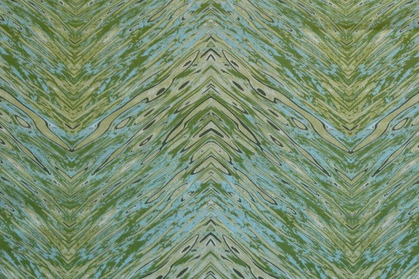 Chevron Green Fabric