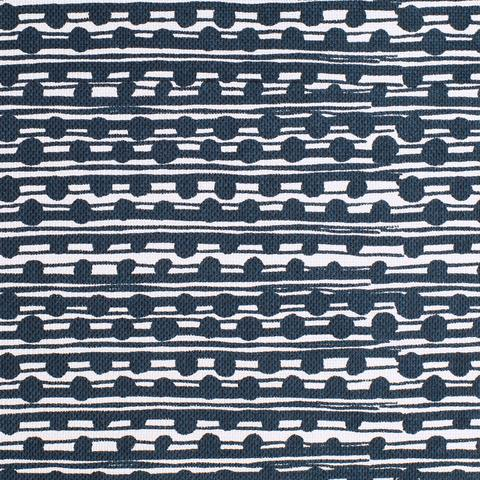 Gamal Dark Navy On Oyster Fabric