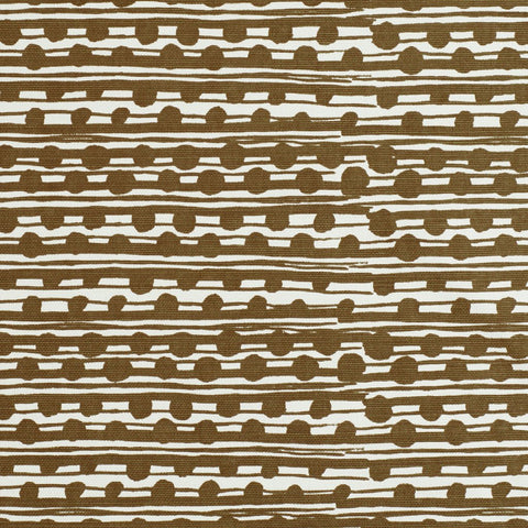 Gamal Ochre on Ecru Fabric