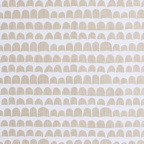 Hannu White On Natural Linen Fabric