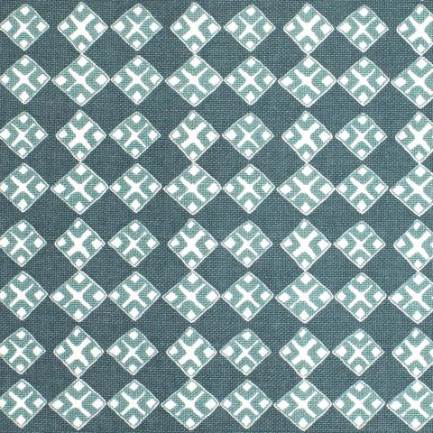 Kiya Celadon on Oyster Fabric