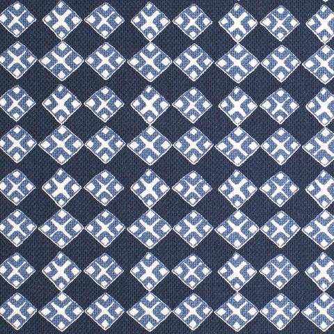 Kiya Dark Navy on Oyster Fabric