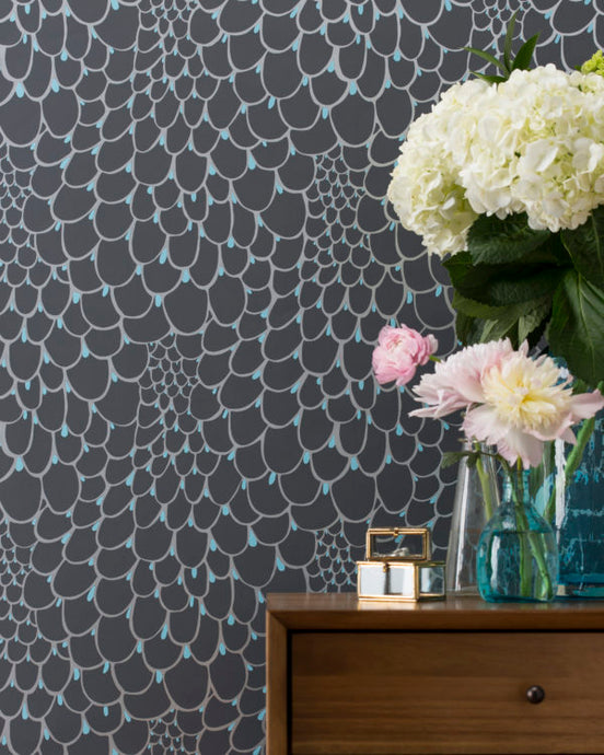 PEACOCK-Slate Wallcovering