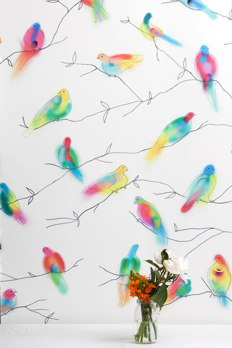 Fruit Doves Palau Wallcovering