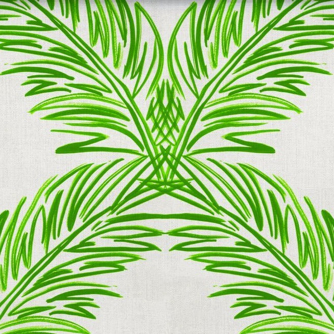 Palm Trellis Fern Green Grasscloth