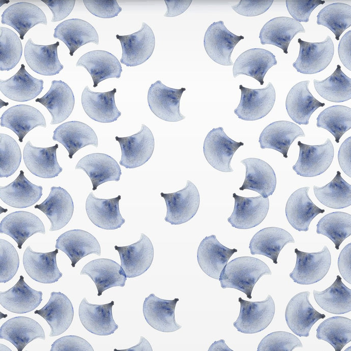 Petal Navy Blue Wallcovering