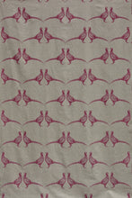 Load image into Gallery viewer, Pheasant - Pink on Natural Fabric