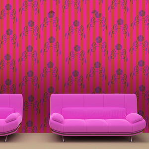 FEDERICO Raspberry & Red Wallcovering
