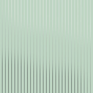 Pinstripe Green Silver Wallcovering