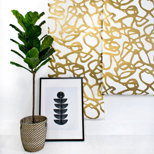 Pompeii Gold Wallcovering