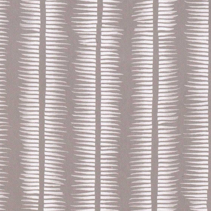 Textured Stripe in White on Taupe