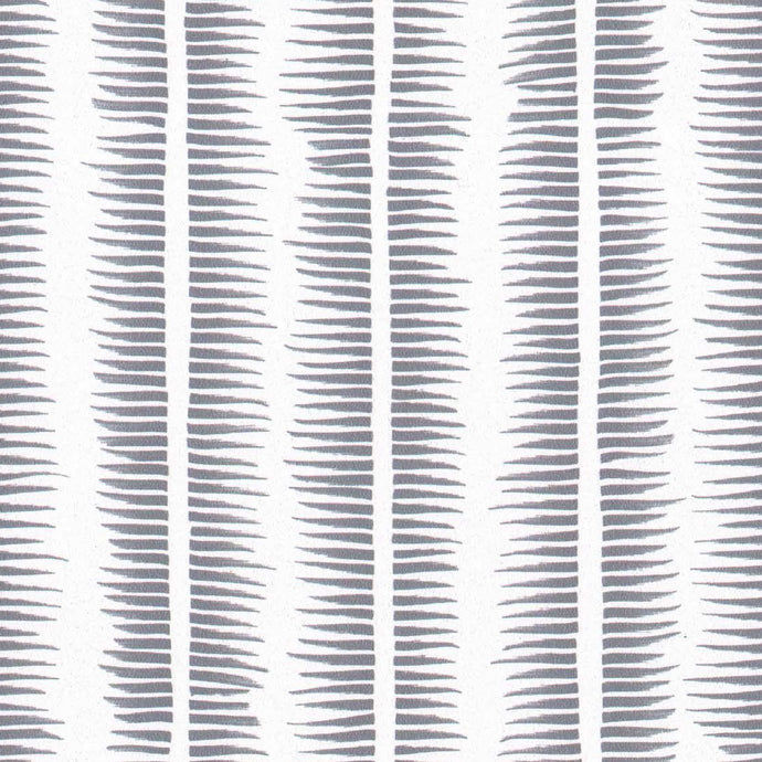 Textured Stripe in Pewter on White