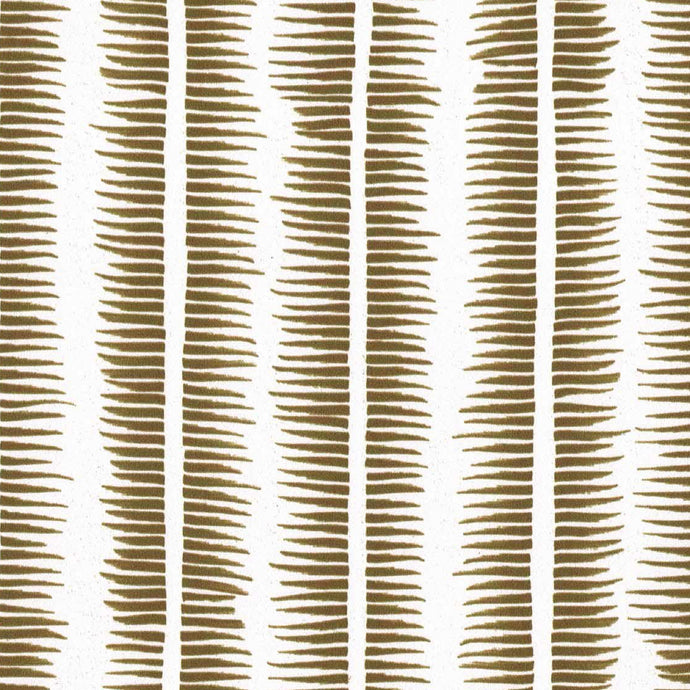 Textured Stripe in Gold on White
