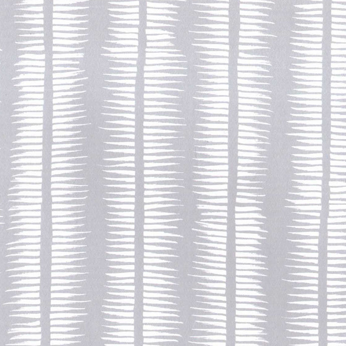 Textured Stripe in White on Pewter
