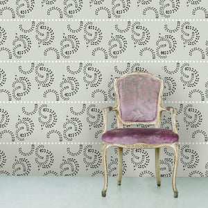 ATHENA White & Charcoal Wallcovering
