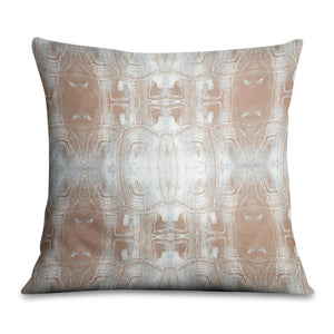 Tortoise Shell Terracotta Grey Pillow