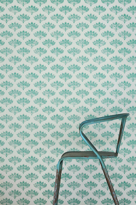 Peacock - Teal Wallcovering