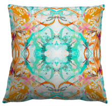 Load image into Gallery viewer, 411-1 Coral Blush Turquoise Fabric