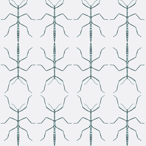 Stickbug Black Blue Wallcovering