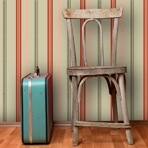 LITTLE STANLEY Light Saffron, Sage & Peony Wallcovering