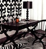 Trousdale Black & White Commercial Grade Wallpaper