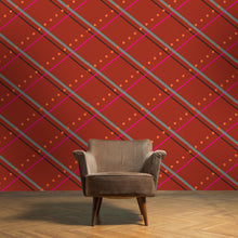 Load image into Gallery viewer, PAMELA Paprika, Truffle, Tangerine & Raspberry Wallcovering