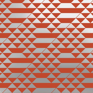 Teepee Orange Silver Wallcovering