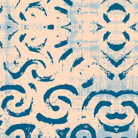 Tribal Peche Summer Blues Fabric