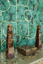 Load image into Gallery viewer, Glam Rock Malachite on Gold Type ll Wallcovering