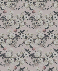 Into the Garden Blush Grasscloth Wallcovering