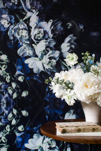 Storm Blue Wallcovering