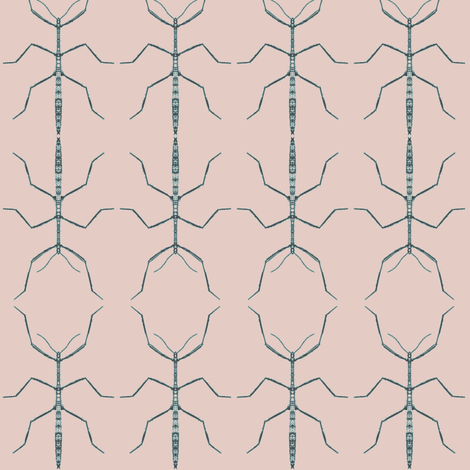 Stickbug Pinkish Blues Wallcovering