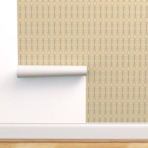 Stickbug Wheat Blue Wallcovering