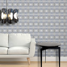Load image into Gallery viewer, Tortoise Shell Wheat Grey White Wallcovering
