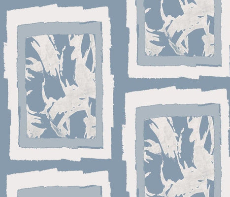 Windows Blue Chalk Wallcovering
